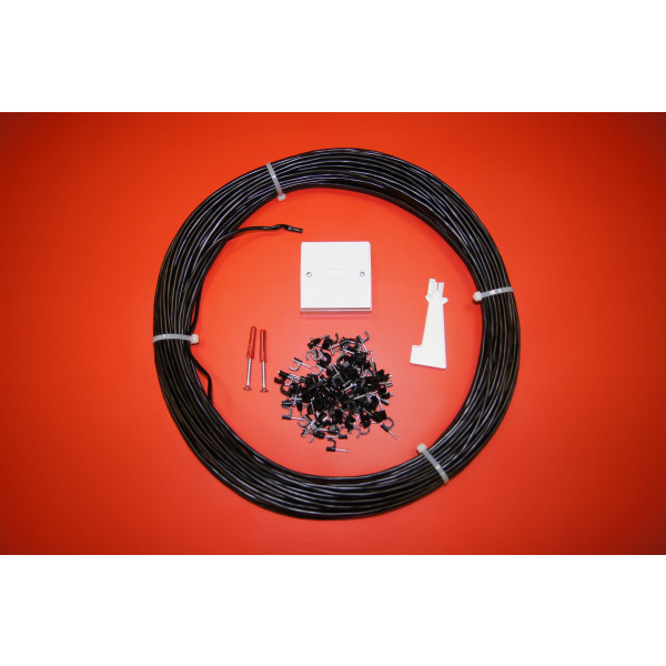 2 Pair External Telephone Cable Extension Kit in Black