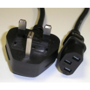 2 Mtr UK Plug to IEC Socket C13