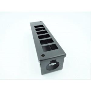 6 Way Pod Box 55mm Deep & 32mm Entry Hole