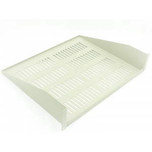 All-Rack 2U 400mm Grey Deep Front Fixing Cantilever Shelf
