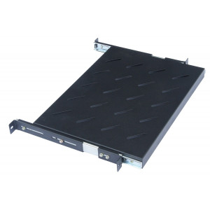 All-Rack 1U 650mm Deep Sliding Shelf for 1000mm Deep Floor Standing Cabinet