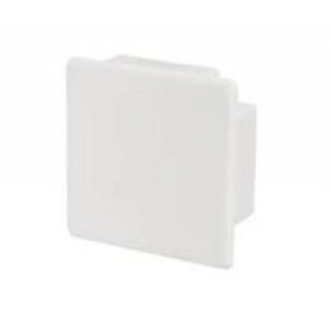 40mm X 25mm White Plastic Stop End Cap for Trunking