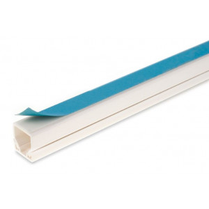 16mm X 16mm Self Adhesive White Plastic Trunking