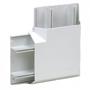 3 Compartment Dado Trunking Flat Angle