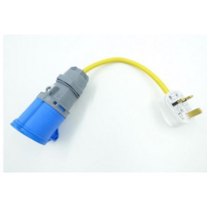 Electric Hook up Mains UK Plug Adapter/Convertor Yellow Cable