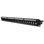 24 Port Cat6 Right Angled Patch Panel