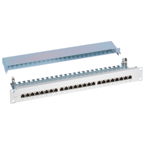 "Cat6A Right Angled 24 Port 1U 19"" Patch Panel"