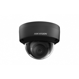 Hikvision 4MP IR Fixed Dome Network Black Camera, 2.8mm, 12VDC