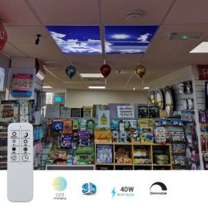 SKY Cloud LED Panels 60x60 40W 3D Effect, Colour Changing And Dimmable (Set Of 4 With Remote)