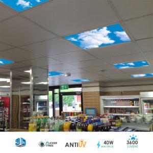 SKY Cloud LED Panel 3D Effect 60x60cms 40W Set Of 6 Units