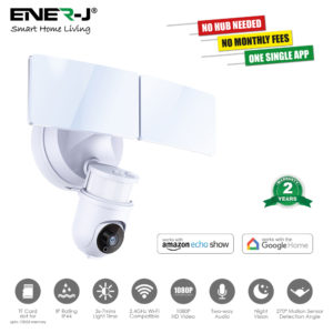 Smart Wi-Fi LED Floodlight Security Camera System 1080p