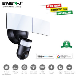 Smart WiFi LED Floodlight Security Camera System 1080P