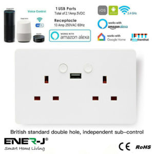 Smart WiFi Double Socket With USB