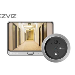 EZVIZ Wire-Free Two-in-one Video Doorbell and Door Viewer,