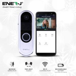 Slim Wireless Video Door Bell With 2 Way Audio